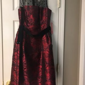Brand new red/ black party dress